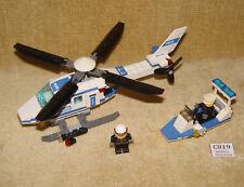 Set LEGO: Città: Città: 7741-1 Elicottero della polizia & 30002-1 BARCA Polybag poliziotti 100%