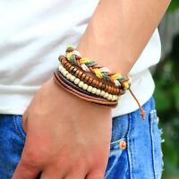 Fashion Braided Adjustable Leather Bracelet Punk Cuff Women/Men`s Jewelry Gift