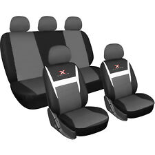Autositzbezüge Sitzbezug Schonbezug Universal Schonbezüge Schwarz Grau AS7311
