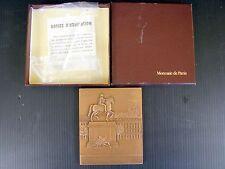 Plaquette Bronze Monnaie de Paris 1987 SOCIETE LYONNAISE DE BANQUE Boîte Support