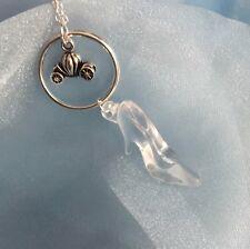 Calabaza de transporte y Vidrio inspirado en Cinderella Slipper Collar