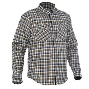 Aramid Motorcycle Shirt > Oxford Kickback Chequered Cotton DuPont - Khaki/White