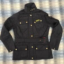 Barbour International Jacket Size 12 Uk Black Womens Black Coat