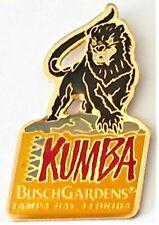 Amusement Park Pin Kumba Roller Coaster Busch Gardens Tampa Bay Rare Hat Lapel
