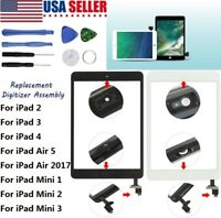 Touch Screen Glass Digitizer Replacement for iPad 2 3 4 Air 5 6 Mini 1 2 Pro Lot