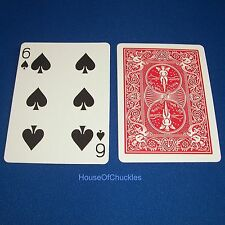 One Way Forcing Card Deck, 6 Of Spades, Red Bicycle, Magic Trick, 1-way Force
