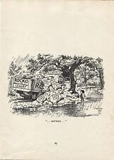 "Norman Thelwell. ""Cement Accident"" Original vintage 1957 cartoon print."