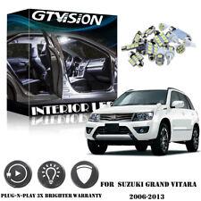 12Pcs White 6k LED Lights Interior Package Kit For 2006-2013 Suzuki Grand Vitara