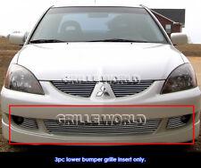 Aluminum Billet Grille For 2004-2005 Mitsubishi Lancer Ralliart Bumper