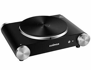 CUSIMAX Electric Hot Plate for Cooking Portable Single Burner 1500W Cast Iron...
