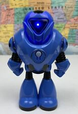 New ListingShips Same Day Greenbrier Blue Space Robot Toy Figure Push Power Button