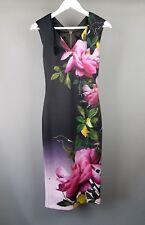 Ted Baker Oldiva dress Floral wiggle midi bodycon Size 0 UK 6