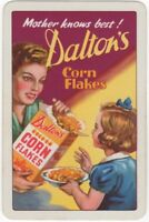 Playing Cards 1 Single Card Old DALTONS CORNFLAKES Advertising Art Lady Girl 1