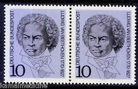 Ludwig Van Beethoven, Music Composer. Germany MNH Pair   -  Ms10