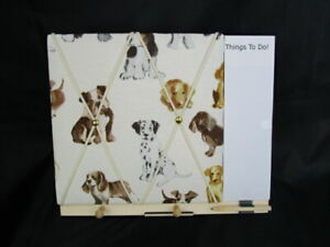 Dog themed pin notice board with additional To Do writing Pad. Gift, reminders