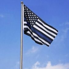 Thin Blue Line American Usa Flag 3 x 5 Foot Police Law Enforcement Honor Flags