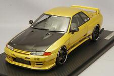 1/18 IG ignition #IG1523 Nissan Skyline Top Secret GTR R32 Gold OZ Type Black