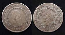 Espagne 10 Reals 1821 Bilbao Ferdinando 70 Argent / Silver