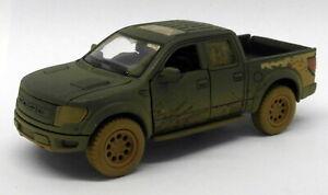 Ford F150 SVT Raptor - Muddy - Blue - Kinsmart Pull Back & Go Metal Model Car