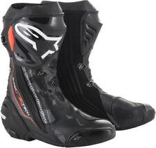 Alpinestars Supertech R Vented Road Racing Boots (Black/Grey/Flo Red) EU 43