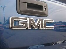 2014 15 16 17 GMC SIERRA CARBON FIBER REAR TAILGATE DECAL EMBLEM OVERLAY DIY