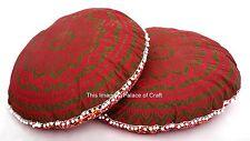 2Pc Indian Decorative Ombre Mandala Floor Cushion Case Pillow Cover Ottoman Sham