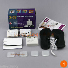 NEW TENS Dual Double Muscle Massage Therapy System 8 Pads Replace Body Pain Free