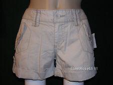 NEW Aeropostale Junior Girls Tan Cotton Cargo Shorts 3 / 4