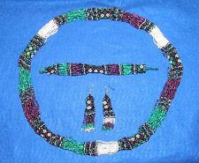 Beaded Necklace Bracelet & Earrings Matching Set New  RW9