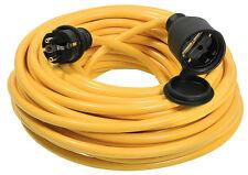 Gummikabel Verlängerungskabel gelb 3 x 1,5² Länge 50 m (60356) #