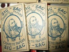 Vintage Zig Zag Antique Zig Zags Mint MAKE AN OFFER Cigarette Rolling Papers x 5