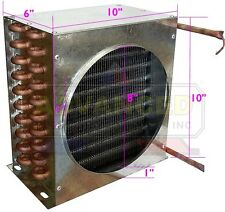 "Condenser Coil for Commercial Coolers & Freezers For 1/3 HP (10""x10""x6"")"