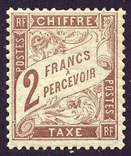France #J27 Mint Nh - 1884 2fr Brown, Postage Due