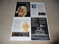 DBX Brochure, 1978, 3bx, dbx II, dbx 118, Articles, Info, 4 pages, Mint!