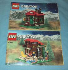 Lego 31048 Creator Lakeside Lodge Instruction Manuel's 2 Books.