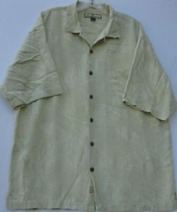 Tommy Bahama men's short sleeve textured silk Hawaiian/Aloha shirt size large