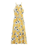 Banana Republic Women Halter Maxi Dress Yellow Floral Size 6 item #585942