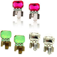 Hot Fashion Women Girls Geometric Rhinestone Crystal Ear Stud  Earring Jewelry