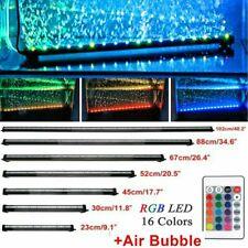More details for aquarium fish tank submersible air bubble curtain rgb led light bar lamp +remote