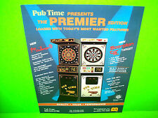 Merit PUB TIME Premier Edition Original NOS 1990 Coin-Op Darts Arcade Game Flyer