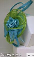 VERDE LIME turchese azzurro fascia per capelli copricapo Corse Accessori