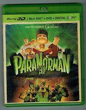 PARANORMAN 3D 2-DISC BLU RAY DVD para norman