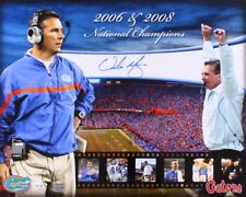 "Urban Meyer Signed Florida Gators ""2006 & 2008 National Champions"" 16x20 Photo"
