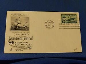 Scott #1091 3 Cent Stamp Honoring The International Naval Review First Day Issue