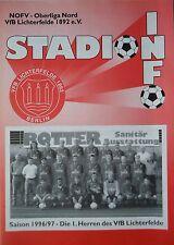 Programm 1996/97 VfB Lichterfelde - 1. FC Schwedt