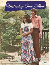 "THE CARPENTERS ""YESTERDAY ONCE MORE"" SHEET MUSIC-PIANO/VOCAL/GUITAR-1973-NEW!!"