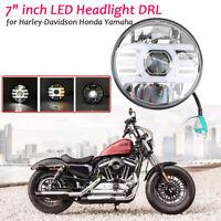 7 zoll LED Motorrad Scheinwerfer Hi/Lo DRL für  Harley-Davidson Honda Yamaha