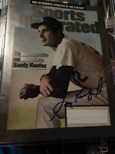 SANDY KOUFAX SIGNED 1995 SPORTS ILLUSTRATED BEAUTIFULLY SIGNED IN BLUE ..