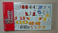 VINTAGE MODIFIED NUMBER 1:24 1:25 GOFER RACING DECALS CAR MODEL ACCESSORY 11015