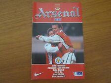 Arsenal v Leicester City - FA Cup 4th Rnd Season 1999 - 2000 (VGC).
